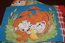 Disney 101 Dalmations Puppies Duck Twin Fitted and Pillowcase Cutter Fabric