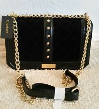 100% AUTHENTIC NWT  BEBE SHOULDER/ CROSSBODY BAG WITH  CHAIN STRAP