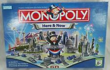 COMPLETE 2006 MONOPOLY HERE & NOW EDITION WITH 8 LIMITED EDITION PEWTER PIECES
