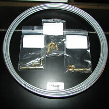 "Steel Brake Line Tubing Kit 3/16"" O.D. x 25 foot Coil with 15 assorted fittings"