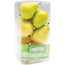 Design It Simple Decorative Fruit ~ 9/Pkg Yellow/Green Pears 2.1/2 x1.3/4 inches