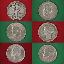 MAKE OFFER $1.00 Face Value 90% Silver Coins 1 Half Dollar Included NO NICKELS