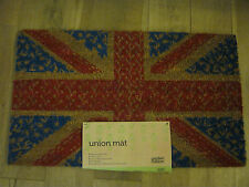 New Garden Nation PVC Backed Novelty Coir Door Mat Doormat Union Jack Flag
