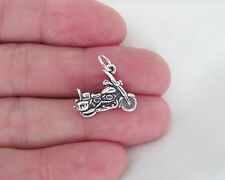 Sterling Silver 3d Motorcycle charm