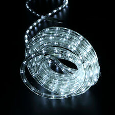 10FT 110V LED Rope Light Party Xmas Home Stripes Waterproof Cool White