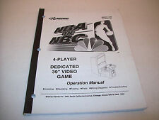 NBA ON NBC By MIDWAY 1999 ORIGINAL VIDEO ARCADE GAME OPERATION MANUAL 4-PLAYER