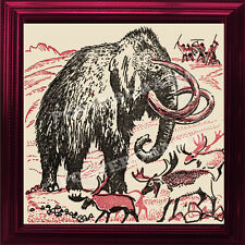"The Great Mammoth POSTER large 14"" x 14"" extinct genus Mammuthus animal Print"