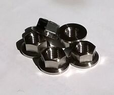 5x Titanio Tuercas De Brida M8 12/17mm Kit de coche Hot Rod Moto Luz Peso