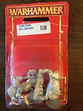 Chaos Dwarf Bull Centaurs New In Blister Rare Metal Warhammer Dwarves   OOP