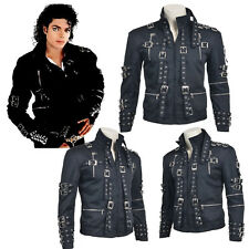 "King Singer Michael Jackson Concert""Bad"" Cosplay Costume Jacket Black Daily Coat"