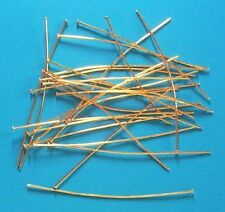 "100 x 3"" soft thick (0.75mm dia) GP headpins, findings for jewellery making"