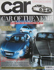 CAR magazine December 12/2007 featuring Alfa Romeo 8C, Nissan GT-R