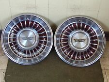 "1962 Cadillac Hub Caps 15"" Set of 2 Caddy Wheel Covers BROWN 62 Hubcaps"