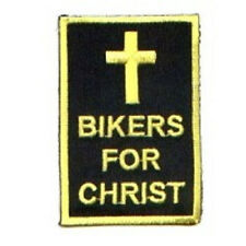 LOT OF 2 - BIKERS FOR CHRIST EMBROIDERED PATCH -CHRISTIAN-CROSS