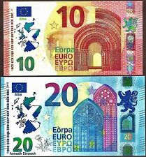 Scotland- €10+ €20 Political Banknotes to show opposition to Brexit Not Real.UNC