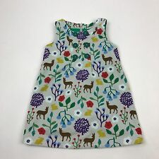 Mini Boden Pinafore Dress 4 5 Corduroy Woodland Deer Forest Animal Jumper Rare