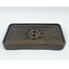New  Bamboo Gongfu Tea Tray Yin Yang Chinese Serving Table Small Size 30*17*4cm