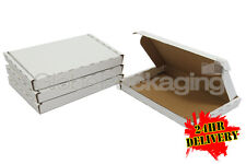 100 x WHITE PIP MAXIMUM SIZE LARGE LETTER CARDBOARD POSTAL BOXES 349x249x24mm