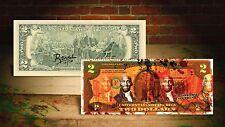 MICHAEL JORDAN ORANGE by RENCY Street Art on $2 Bill Artist Signed #/70 Banksy