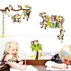 Cheeky Monkey Banana Tree Wall sticker Removable decals decor kids Nursery Art