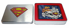 AWESOME 'THIS IS A JOB FOR..' SUPERMAN PRINT WALLET IN COOL SUPERMAN TIN *NEW*