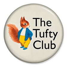 """The Tufty Club 25mm 1"""" Pin Badge Button Fluffytail Elsie Mills RoSPA Vintage 60s"""