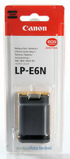Canon Original lp-e6n/lp-e6 N Batterie pour EOS/7d/70d/6d/5d/5dm2/5dm3/5ds/5dsr