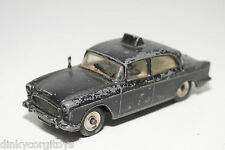 DINKY TOYS 256 HUMBER HAWK POLICE CAR BLACK GOOD CONDITION REPAINT