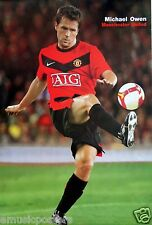 "MICHAEL OWEN ""KICKING FOOTBALL FOR MANCHESTER UNITED FC"" POSTER - England Soccer"