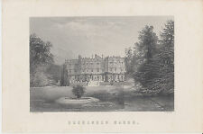 19th century print of Hughenden Manor by Brandard after photo by Taunt