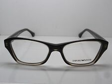 NEW Authentic Emporio Armani EA 3032 5222 Brown 52mm RX Eyeglasses