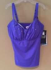 Coco Reef Perfect Fit Tankini Top.. Underwire/Padded ROYAL BLUE. Size 36 D cup.