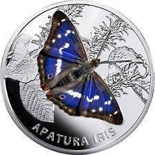 2013 Belarus Large silver Color Proof 20 roubles-Purple Emperor Butterfly