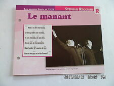 CARTE FICHE PLAISIR DE CHANTER STEPHAN REGGIANI LE MANANT
