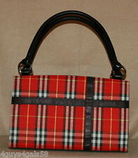 Miche Classic Purse SHELL ONLY Fits Classic Bag BONNIE Red Plaid MINT CONDITION