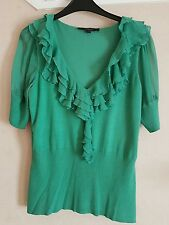 Women's COAST silk blend jumper blouse top. Ruffle detail. Size 14
