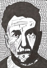 Comic-Pen/Ink Illustration Sketch Drawing Poet Author Ezra Pound PopArt