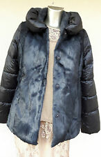 MARINA RINALDI by MAX MARA Padded/Fur Jacket  size 14 USA,16 GB,44 D,48 I, 46 F