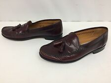 SANDRO MOSCOLONI Sz 8.5 Brown Leather Casual Tassel Loafers Olivio