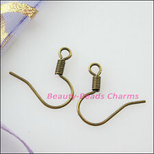 150Pcs Flat with Coil Earring Wire French Hook 18mm Gold Silver Bronze Plated