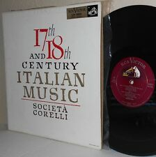1955 RCA LM-1880 17th and 18th Century Italian Music LP SOCIETA' CORELLI