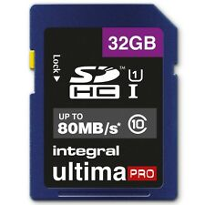 Integral 32GB UltimaPro SD SDHC Memory Card For Digital Camera 80MB/s Class 10