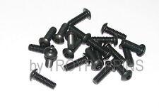 20-BLACK-1/4-20 x 3/4 BH STEEL BUTTON HEAD ALLEN CAP MACHINE SCREW FASTENER BOLT