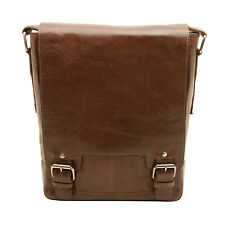 Ashwood-cuero tostado Kingston A4 Messenger Bag Con Ipad De Bolsillo