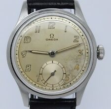 VINTAGE c.1944 Omega Suveran 35mm Steel Mens Manual Watch Original Dial 30T2PC