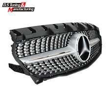 For Mercedes Benz CLA W117 CLA45 CLA200 CLA260 2014-2016 ABS Front Dimond Grille