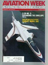 1988 Aviation Week & Space Technology Magazine: X-29 No. 2/Learjet Model 55c