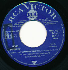 "ELVIS PRESLEY 45 TOURS EP 7"" FRANCE AIN'T THAT LOVING YOU BABY"