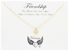 Goldplated Friendship Inspirational Message Card Necklace Jewellery Gift