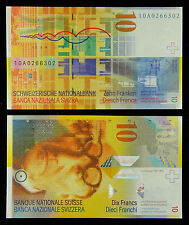 Switzerland Paper Money 10 Francs UNC, Signature #1